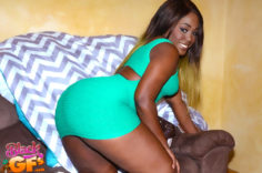 Big Butt Miss Mary Jane in Green Dress
