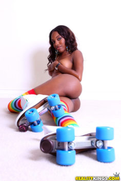Beautiful Armani Monroe with Roller Skates
